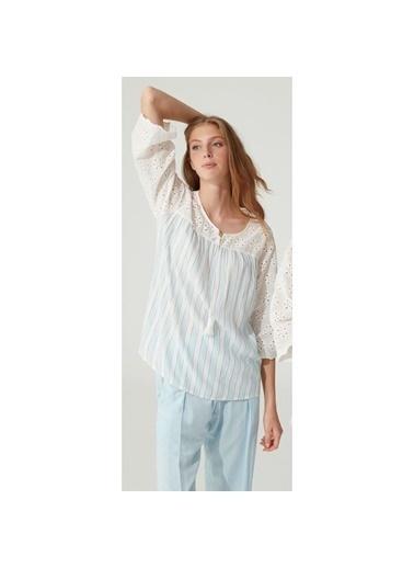 Feyza Pijama Takım Mavi